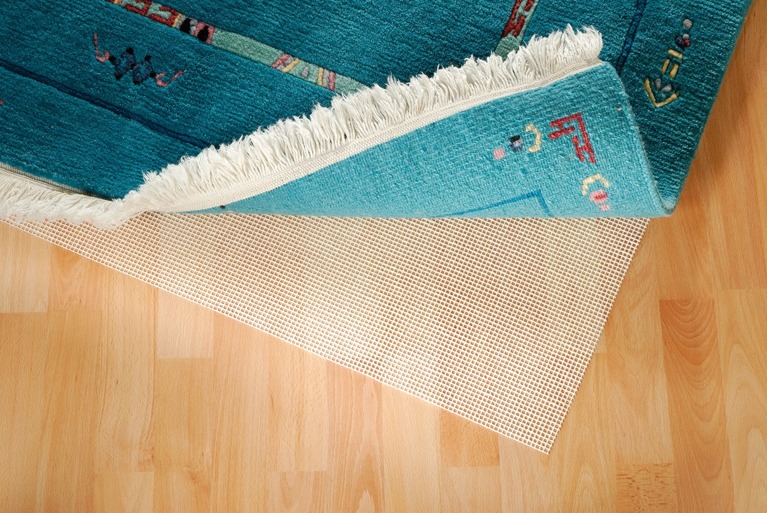 Teppichunterlage Gitter Star breite 120 cm (für glatte Böden)